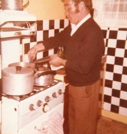 Grandfather cooking retrobite food blog