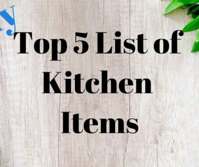 My Top Five List of Kitchen Items