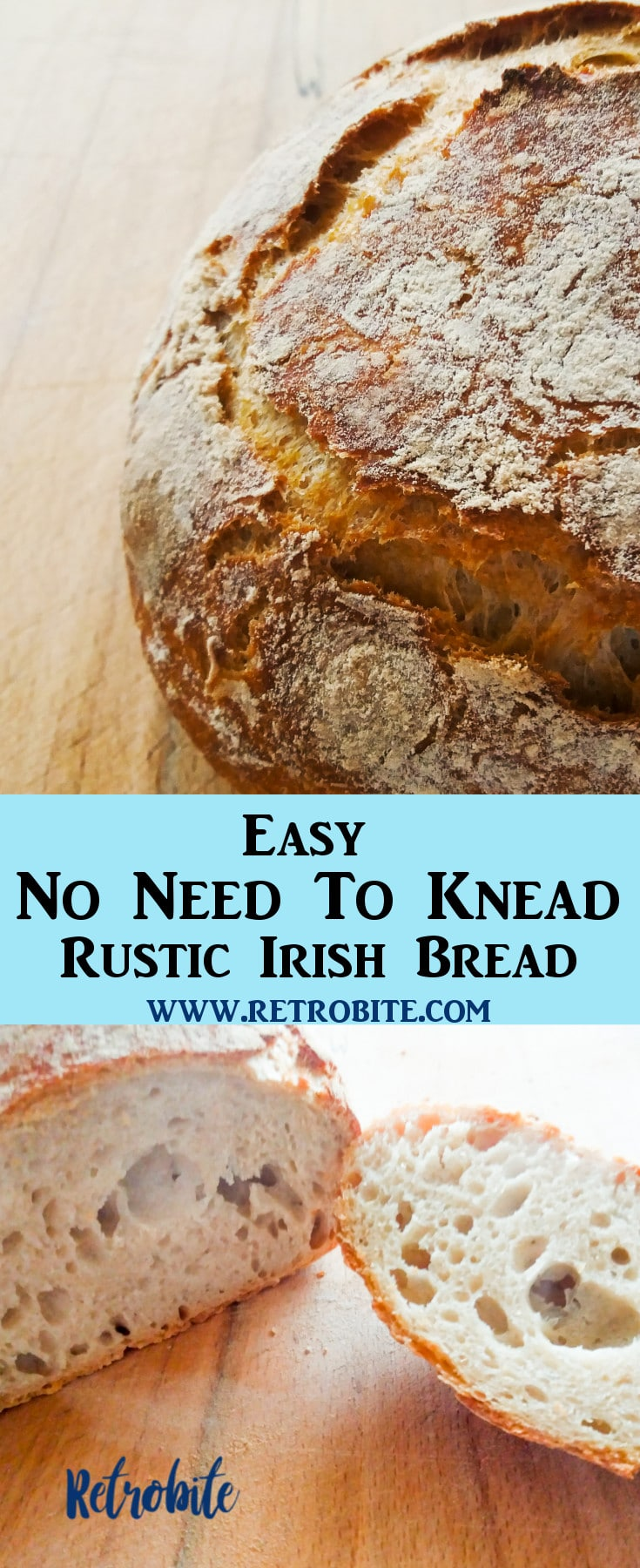 No Need To Knead Irish Rustic Bread Recipe