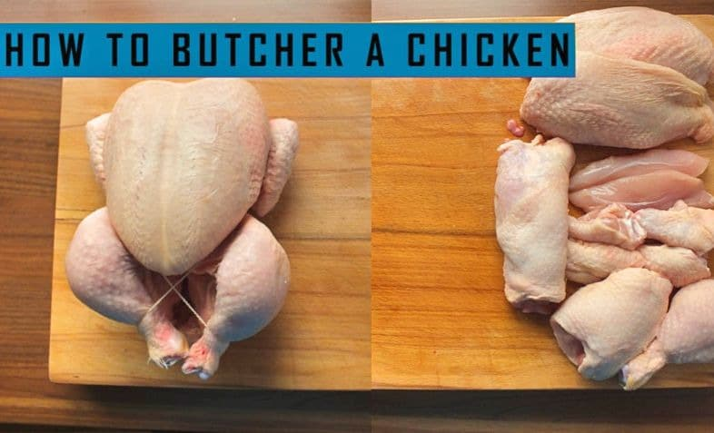 how to cut a whole chicken into pieces